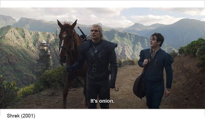 Horse - It's onion. Shrek (2001)