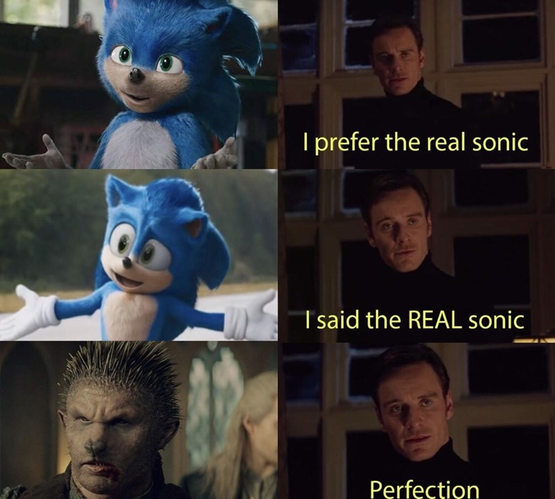 Facial expression - I prefer the real sonic Tsaid the REAL sonic Perfection