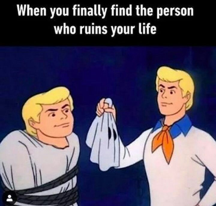 Cartoon - When you finally find the person who ruins your life