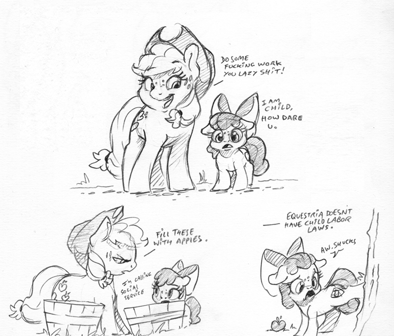applejack dilarus apple bloom - 9414525952