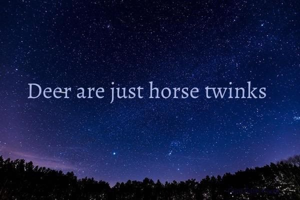 Sky - Deer are just horse twinks