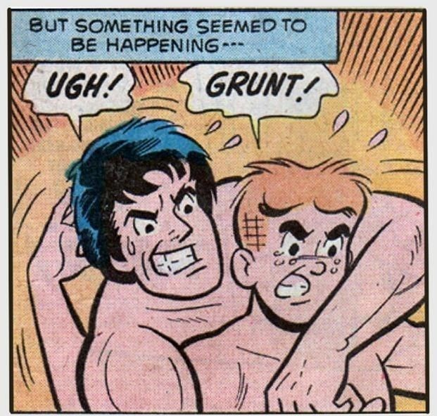 Comics - BUT SOMETHING SEEMED TO BE HAPPENING GRUNT! UGH!