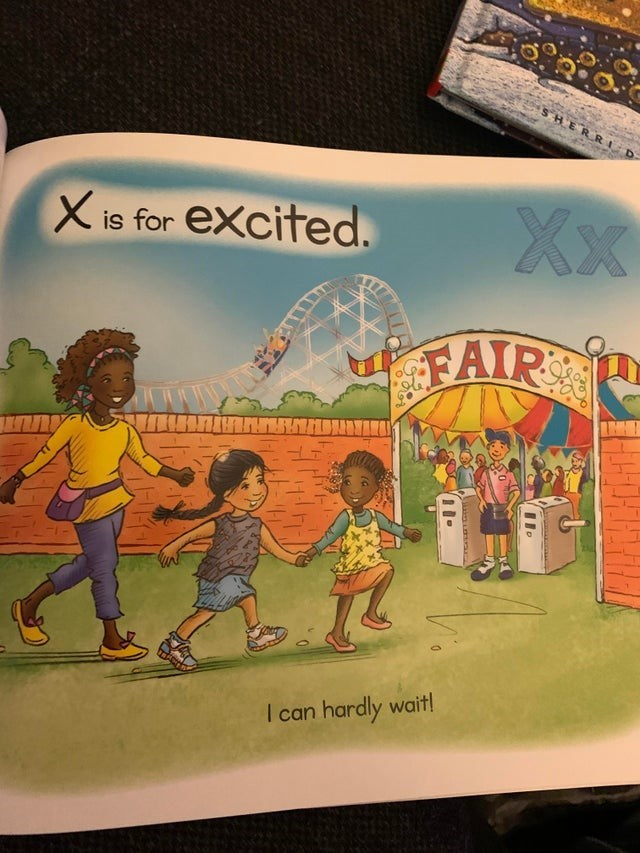 Cartoon - SHERRI Xx excited. X is for FAIR I can hardly wait!