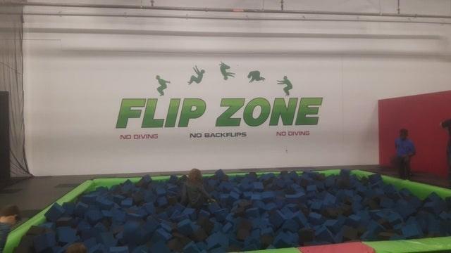 Green - FLIP ZONE NO DIVING NO BACKFLIPS NO DIVING