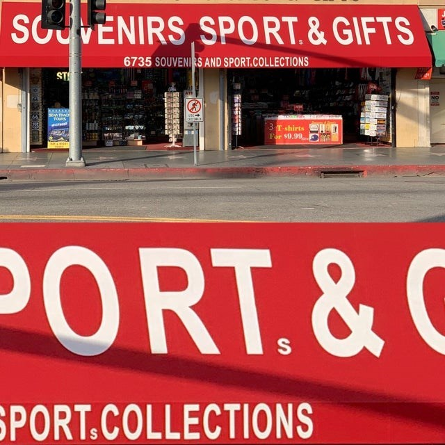 Font - SCUVENIRS SPORT.&GIFTS 6735 SOUVENIRS AND SPORT.COLLECTIONS Is NO TOUAS 3Tshirts For $9.99 PORT.&C SPORT.COLLECTIONS