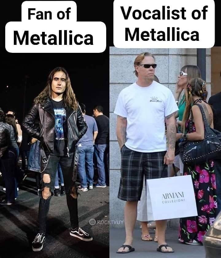 Fashion - Fan of Vocalist of Metallica Metallica ELGH ARMANI COLLEZIONI O ROCKTVUY