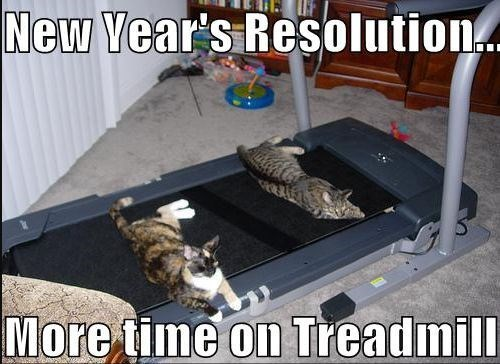 Treadmill - New Year's Resolution. More time on Treadmill