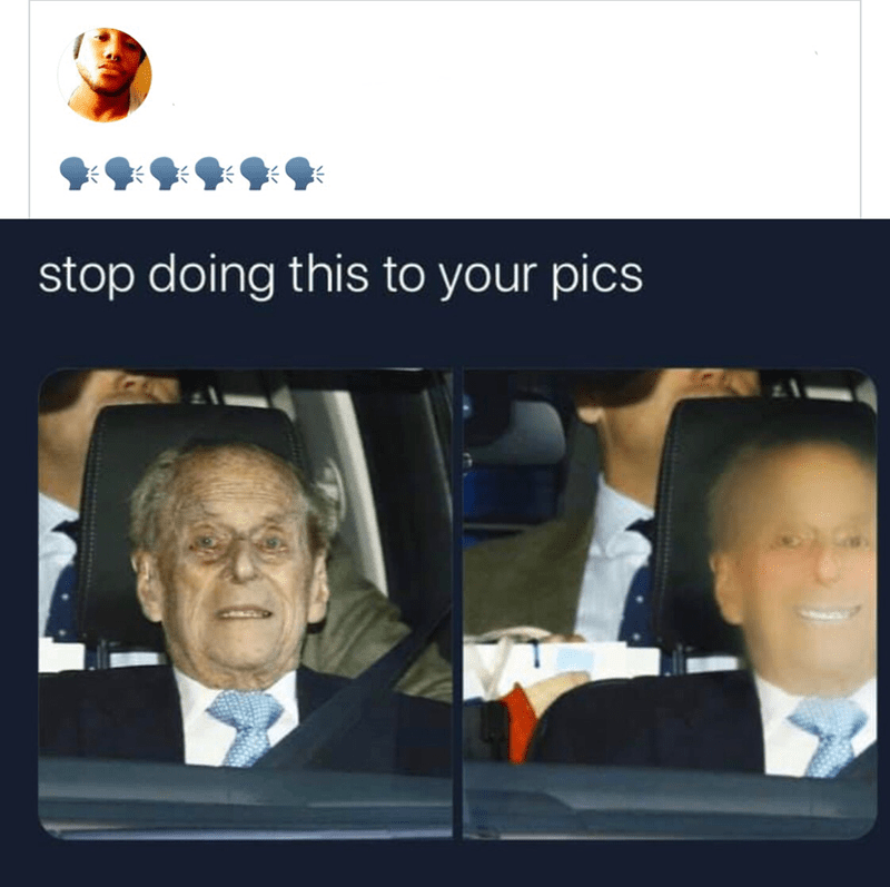 Face - stop doing this to your pics