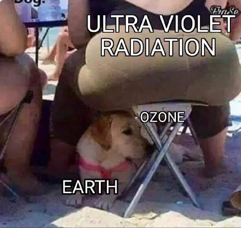 Text - Photo caption - FhaSo ULTRA VIOLET RADIATION OZONE EARTH