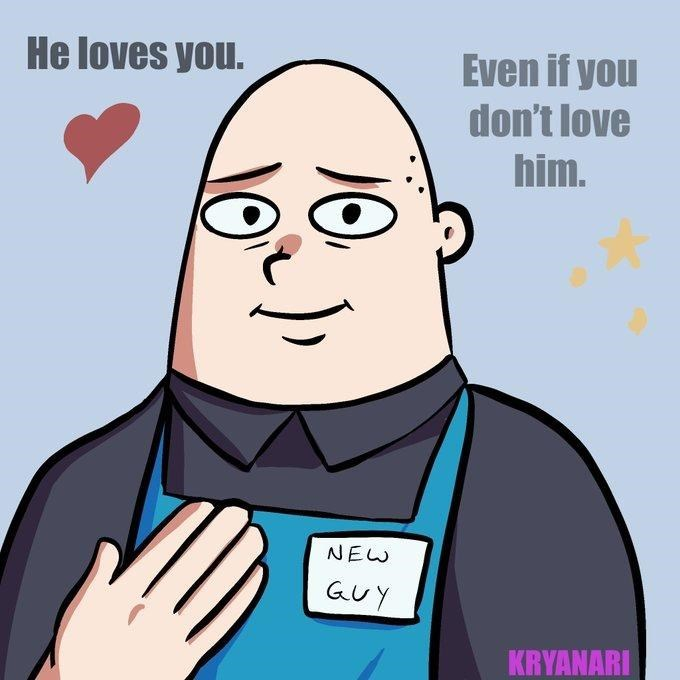 Cartoon - He loves you. Even if you don't love him. NEW GUY KRYANARI 10