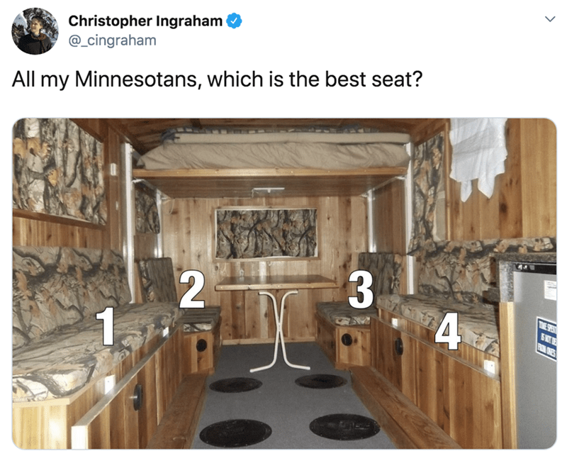 Room - Christopher Ingraham @_cingraham All my Minnesotans, which is the best seat? TWE SPEAT SW E RM ONES