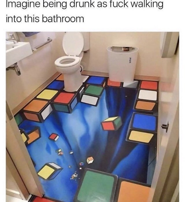 Product - Imagine being drunk as fuck walking into this bathroom