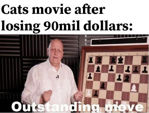 Games - Cats movie after losing 90mil dollars: Outstanding move