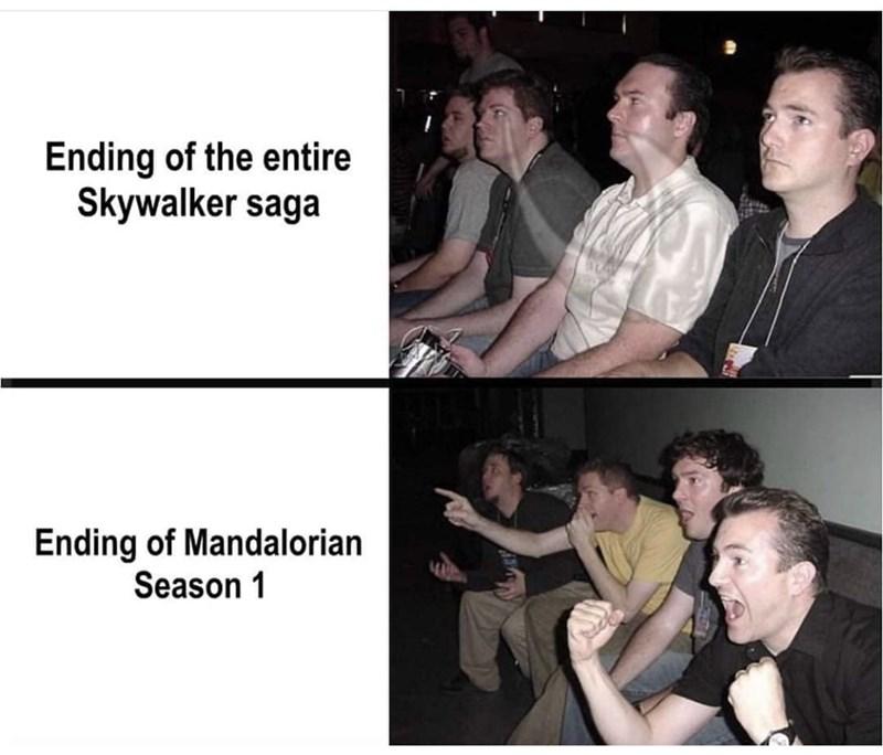 Photo caption - Ending of the entire Skywalker saga Ending of Mandalorian Season 1