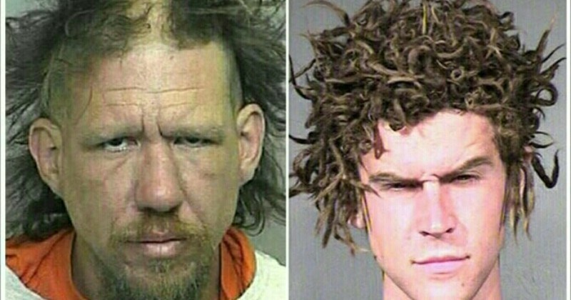 A collection of images showing absolutely terrible haircuts.