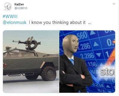 Armored car - KaiZen @KZ8610 #WWI @elonmusk I know you thinking about it . 560 286 A 0 2.286 1 .156 Wstor 0F 3.234 N/A