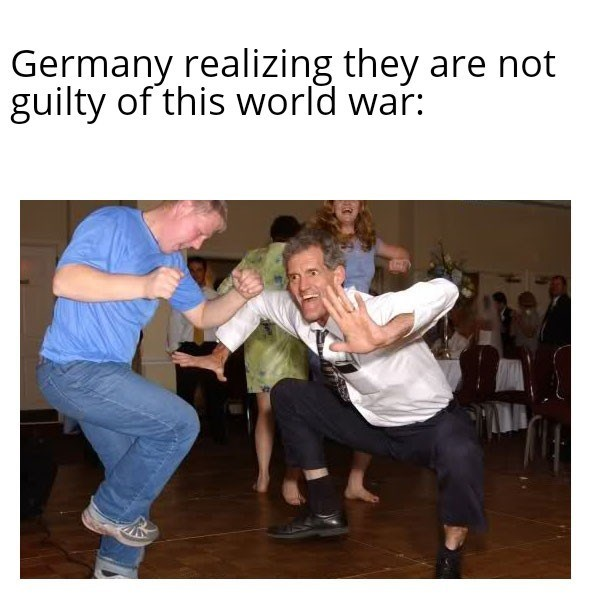 Photo caption - Germany realizing they are not guilty of this world war: