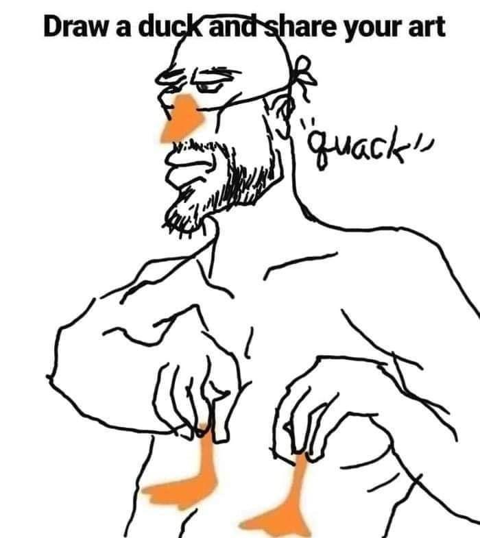Line art - Draw a duckand share your art quacks