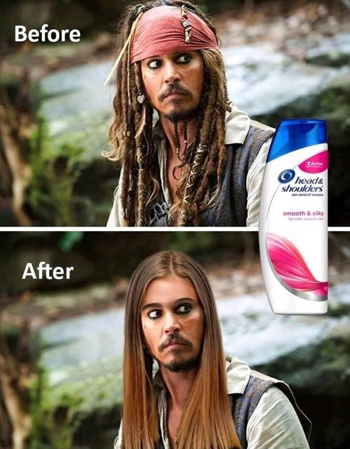 Hair - Before 3Ast head& shoulders anti-dandrut an smooth & silky tor sott, smoom After