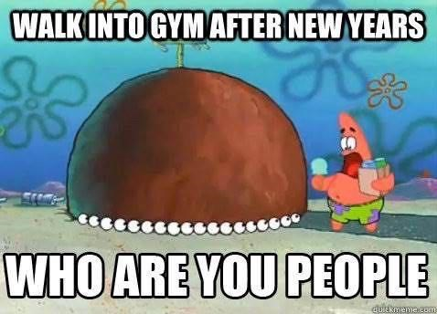 Cartoon - WALK INTO GYM AFTER NEW YEARS WHO ARE YOU PEOPLE QUIekmemecom