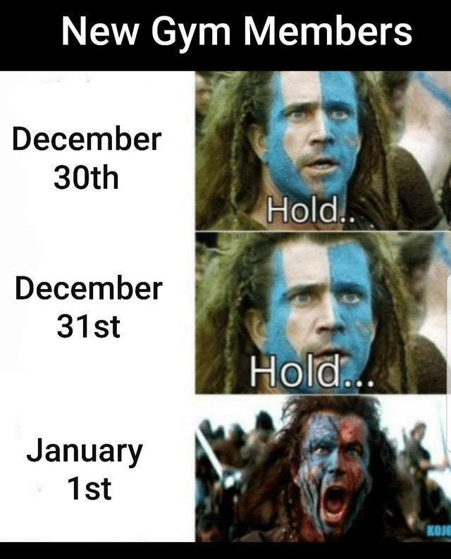 People - New Gym Members December 30th Hold.. December 31st Hold.. January 1st KOJE