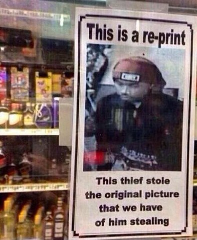 Poster - This is a re-print CHIC This thief stole the original picture that we have of him stealing