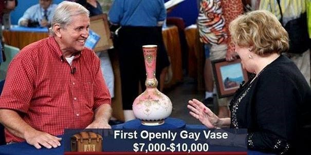 First Openly Gay Vase $7,000-$10,000 FAR