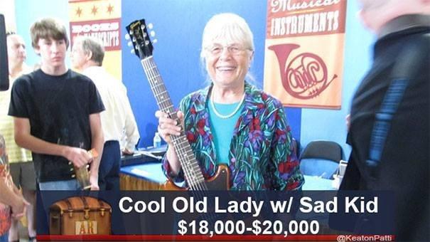 Musical instrument - * ** INSTRUMENTS Cool Old Lady w/ Sad Kid AR $18,000-$20,000 @KeatonPatti