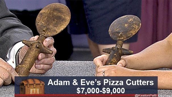 Metal - Adam & Eve's Pizza Cutters $7,000-$9,000 AR @KeatonPatti