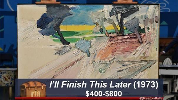 Painting - l'll Finish This Later (1973) $400-$800 AR @KeatonPatti