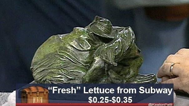 """Fresh"" Lettuce from Subway $0.25-$0.35 TAR QKeatonPatti"