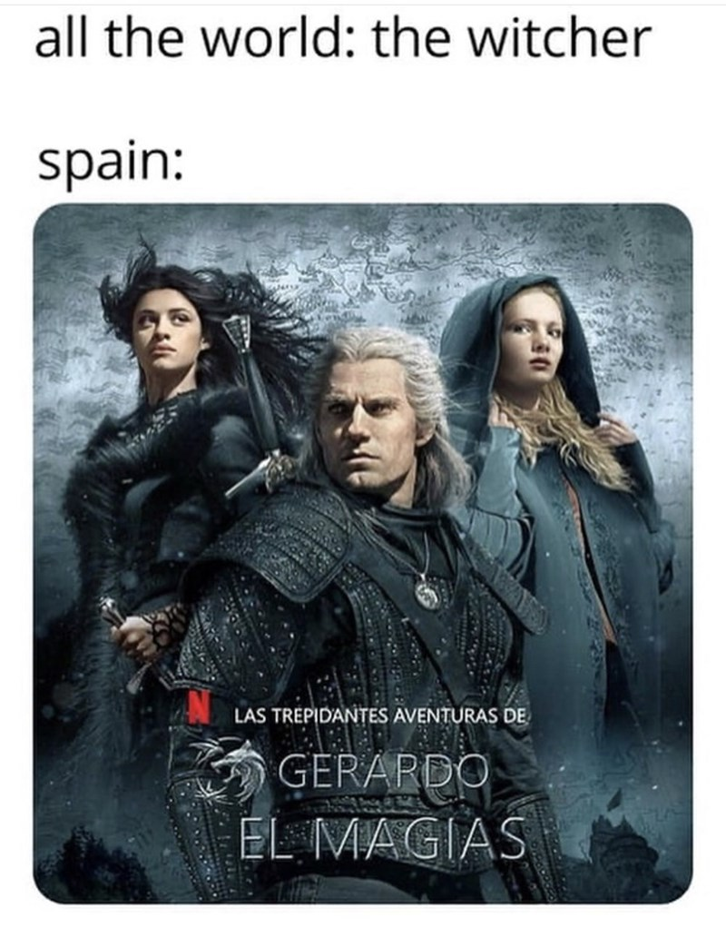 Movie - all the world: the witcher spain: LAS TREPIDANTES AVENTURAS DE GERARDO EL MAGIAS
