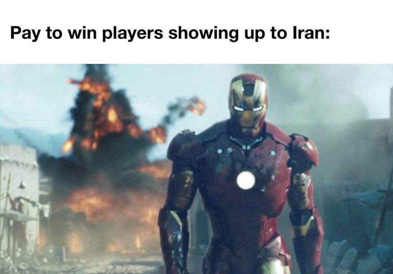 Superhero - Pay to win players showing up to Iran: