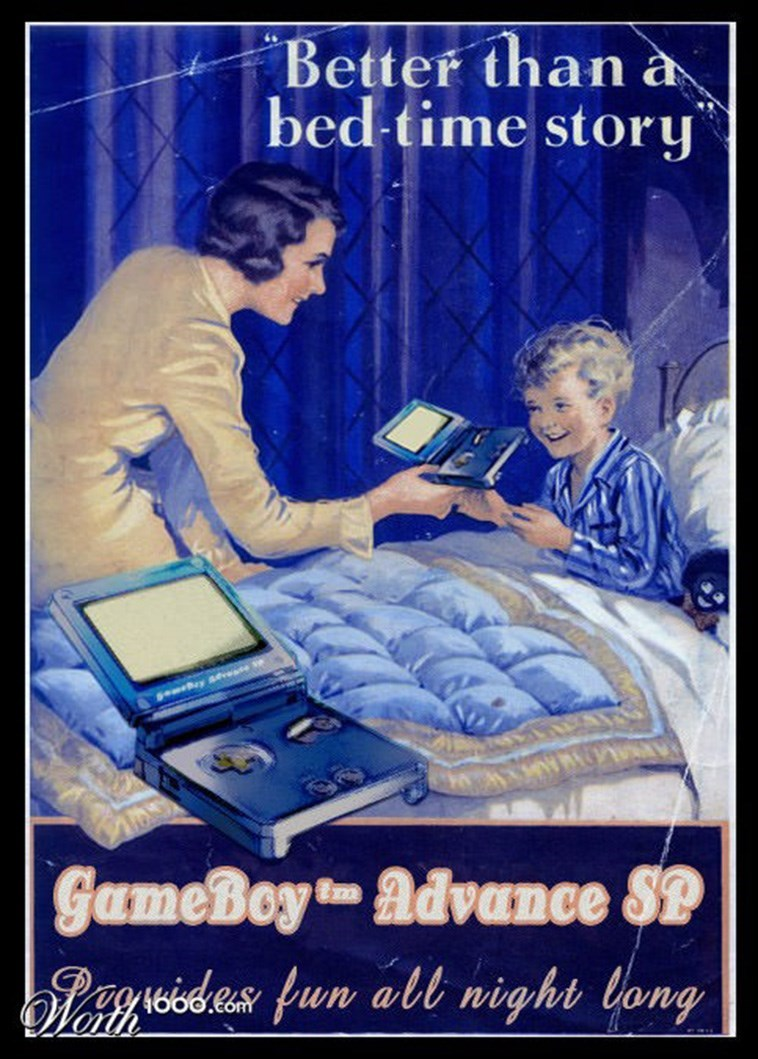 Poster - *Better than à bed-time story SemBey aevese GameBoy advance SP blsgsides fun alt night long