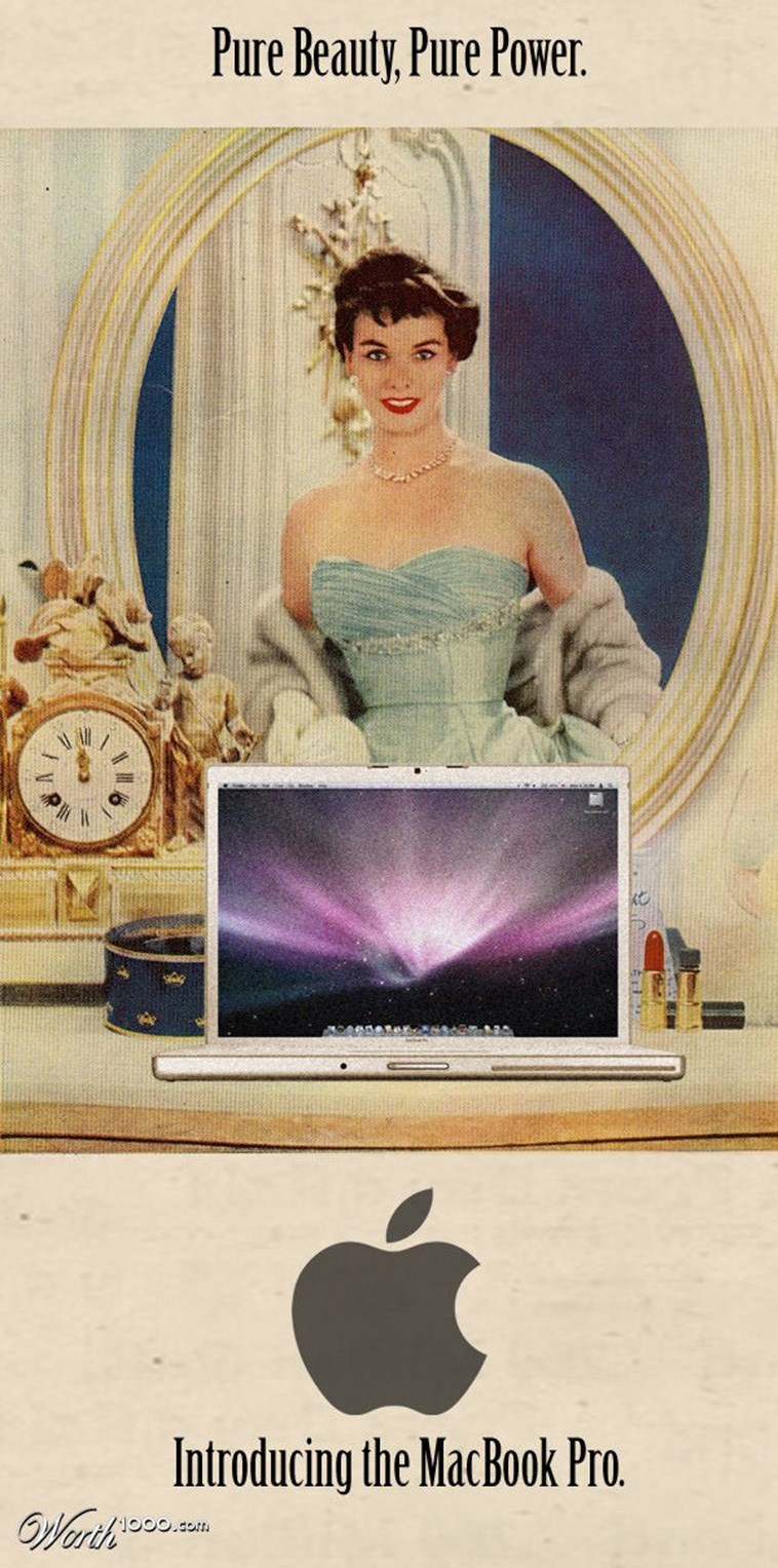 Beauty - Pure Beauty, Pure Power. Introducing the MacBook Pro. OWerth.