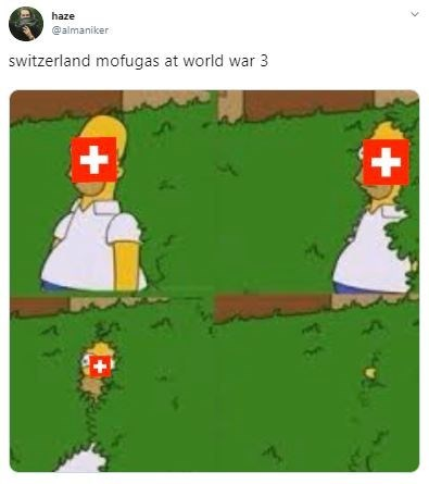 Cartoon - haze @almaniker switzerland mofugas at world war 3 +1