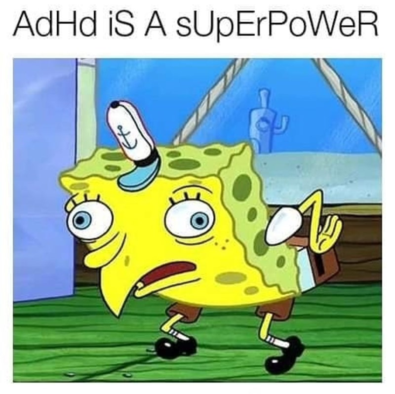 Cartoon - AdHd iS A sUpErPoWeR