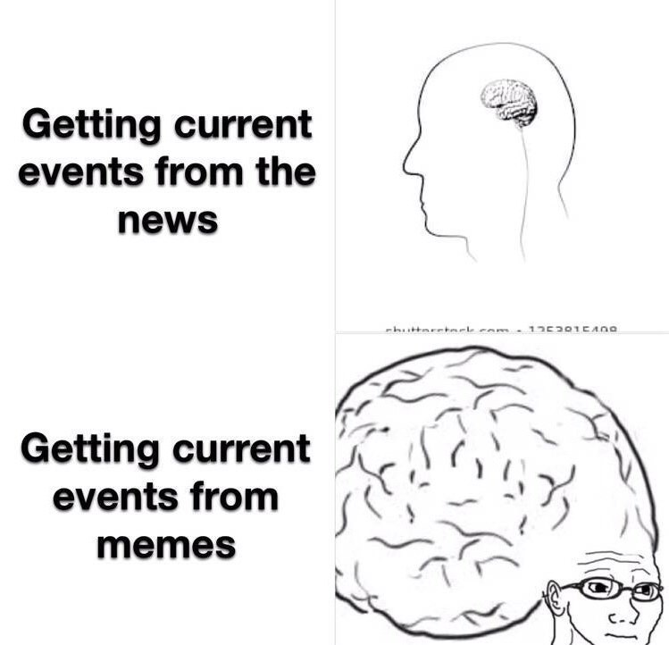 Brain - Getting current events from the news huttaretark cam - 1230TEANO Getting current events from memes
