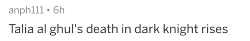 Text - anph111 • 6h Talia al ghul's death in dark knight rises
