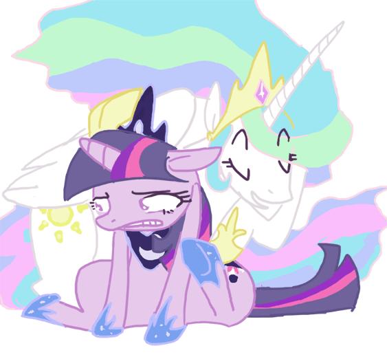 twilight sparkle floppyneko princess celestia - 9419185664