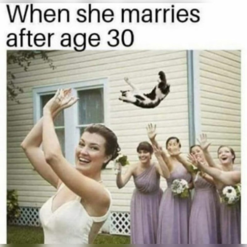 Facial expression - When she marries after age 30