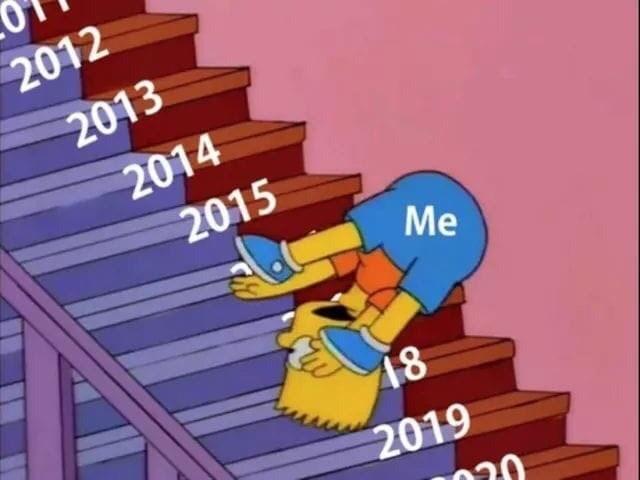 Cartoon - 2012 2013 2014 2015 Me 18 2019