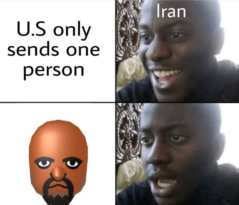 Face - Iran U.S only sends one person