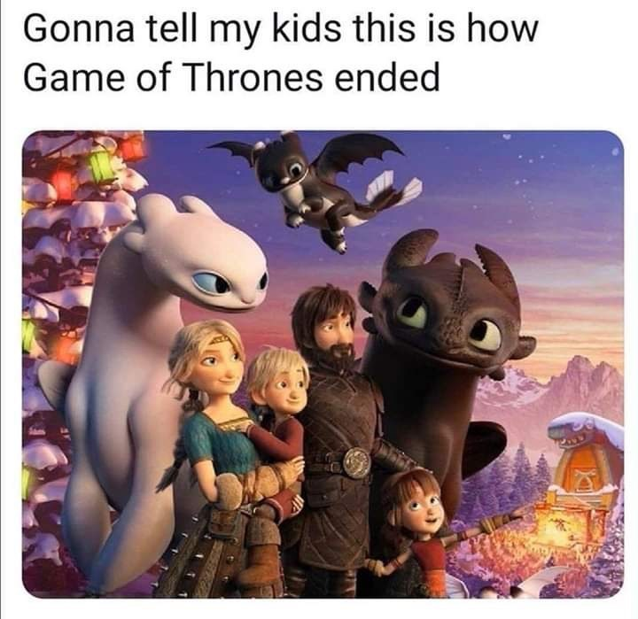 Animated cartoon - Gonna tell my kids this is how Game of Thrones ended