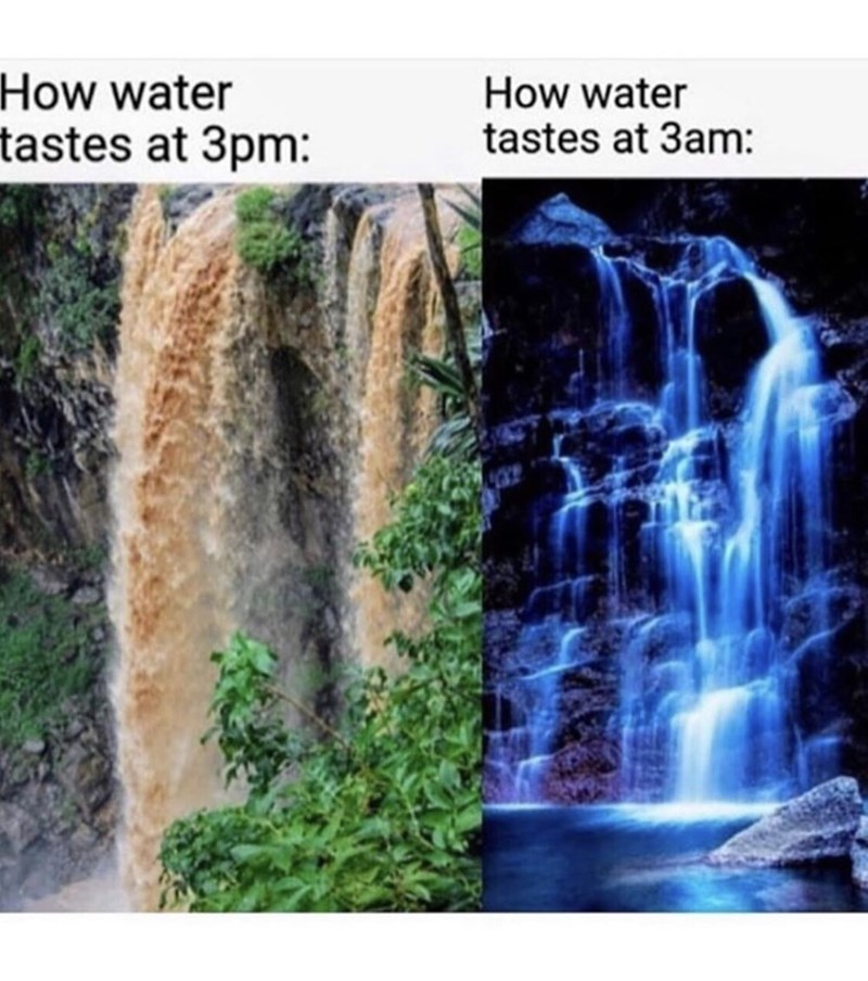 Water resources - How water How water tastes at 3am: tastes at 3pm: