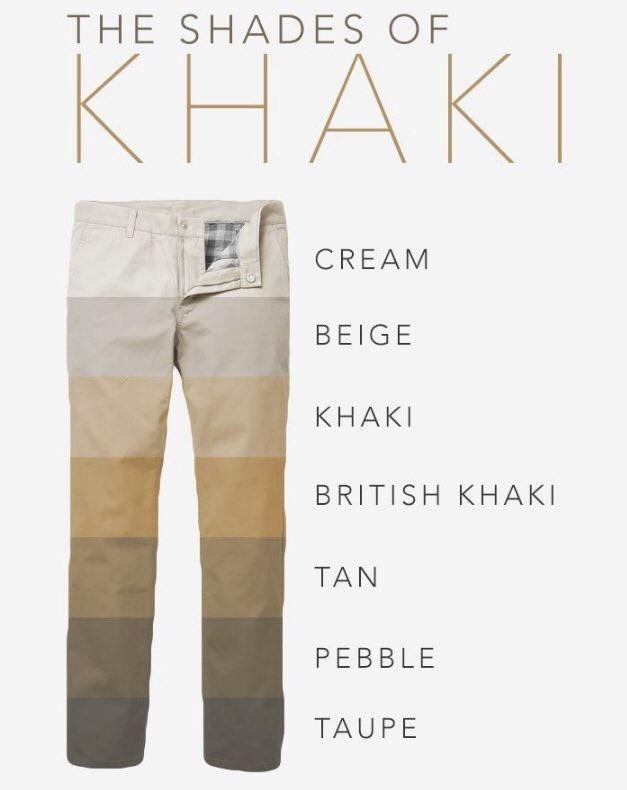 Clothing - THE SHADES OF КНАКI CREAM BEIGE КНАКI BRITISH KHAKI TAN PEBBLE TAUPE