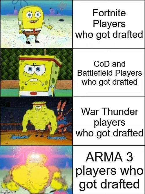 Yellow - Fortnite Players who got drafted CoD and Battlefield Players who got drafted War Thunder players who got drafted ARMA 3 players who got drafted ingfip.com