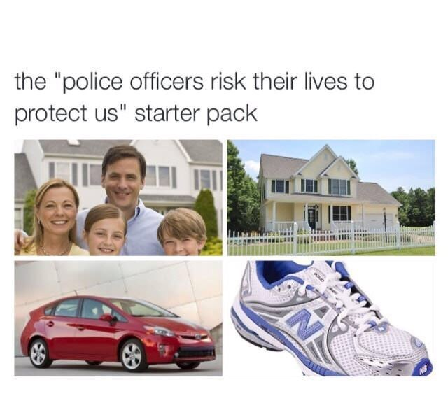 "Motor vehicle - the ""police officers risk their lives to protect us"" starter pack"