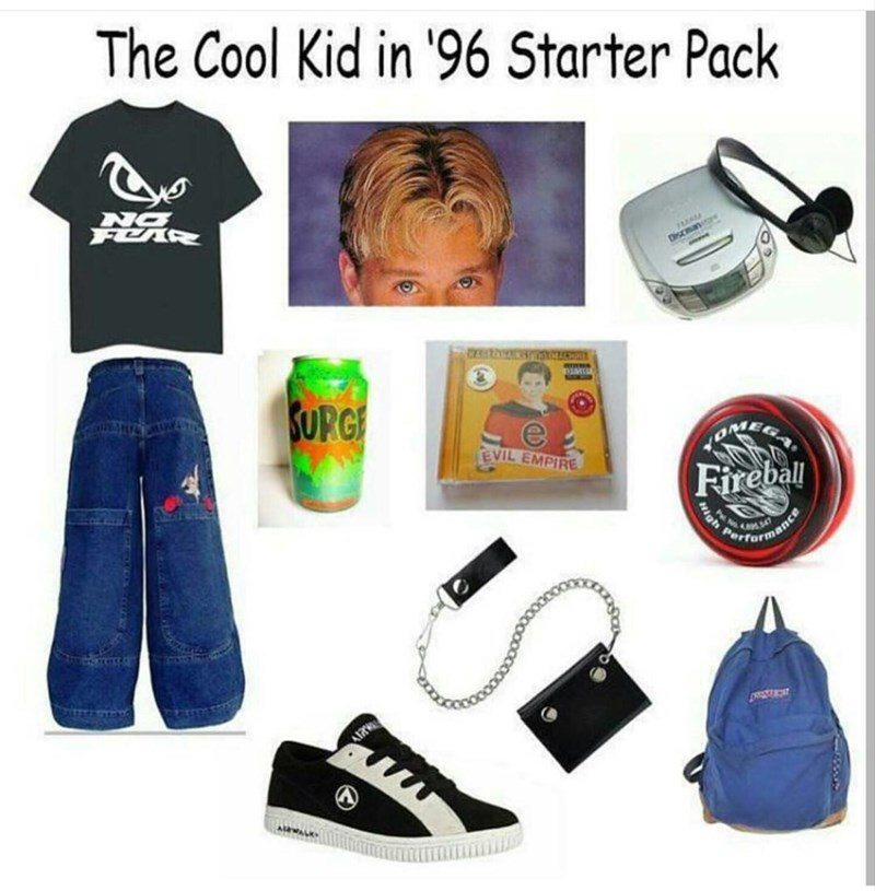 Clothing - The Cool Kid in '96 Starter Pack Di SUPG EVIL EMPIRE Fireball Pertermance High