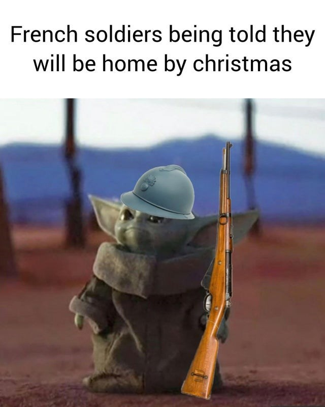 Adaptation - French soldiers being told they will be home by christmas
